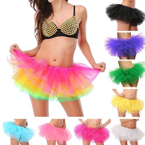 Adult Female Tutu Skirt 5 Layered Tutu Mini Ball Gown Skirt