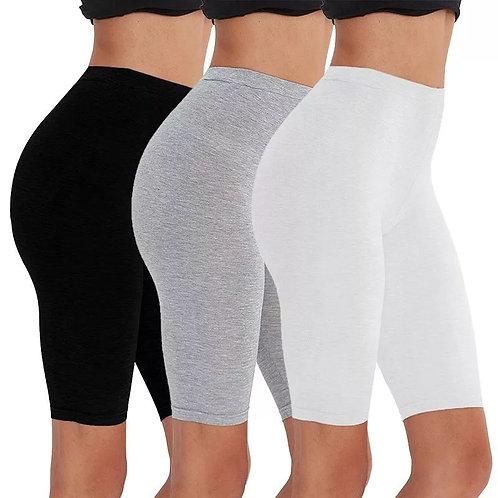 2pcs/3pcs Pack Eco-Friendly Viscose Spandex Bike Shorts for Woman Fitness
