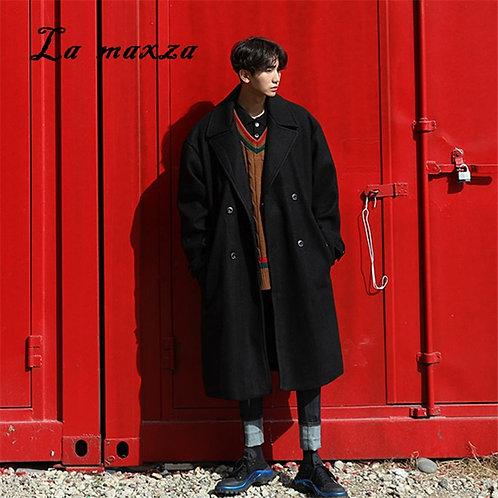 Plus Size 2020 Casual Mens Long Coats Overcoats Fashion Korean Style