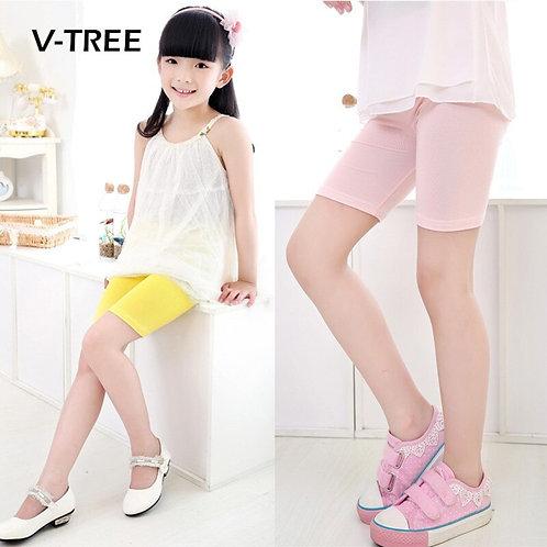 V-Tree Summer Girls Shorts Candy Color Girls Safty Shorts Pant Kids Beach Pants