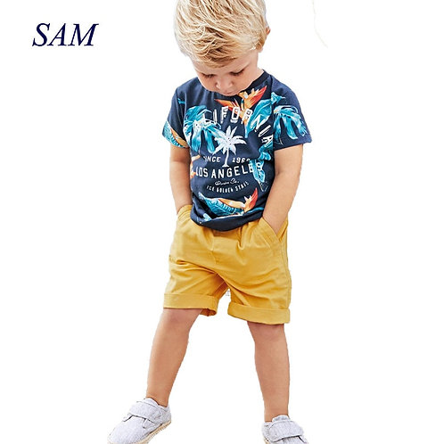 2019 Baby Boys Sets Summer Boys Sets Clothes T Shirt+short Pants Cotton