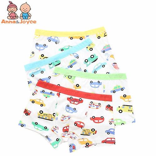 6pc/Lot Children's Underwear High Quality Baby Boy Cartoon Car Modal Panties