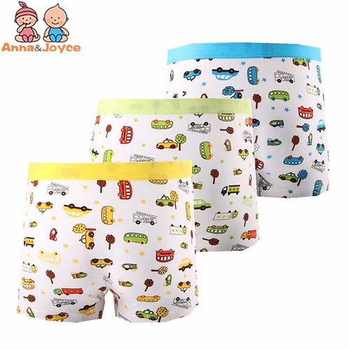 3pc/Lot Cartoon Modal Underwear Children 'S Print Car Underwear Boys Cotton