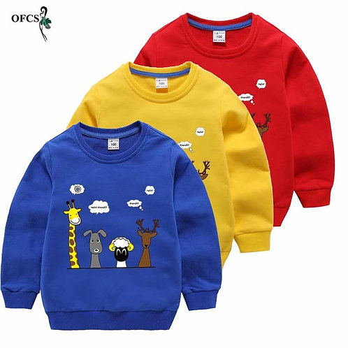 New Children Baby Sweaters Cartoon Boys Pullovers Spring Girls Sweaters Knit