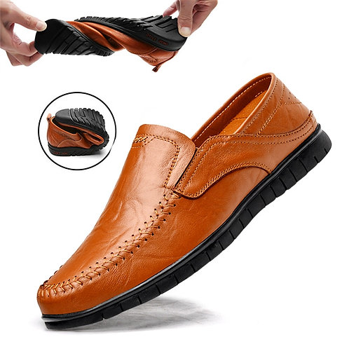 Genuine Leather Luxury , Loafers Moccasins Breathable Slip-on Driving Shoes