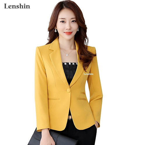 High-Quality Blazer Straight and Smooth Jacket Office Lady Style Coat Business