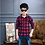 Thumbnail: 3-13 Years Teens Long Sleeve Plaid Shirt Boy Uniforms Children Teenage Tops Turn