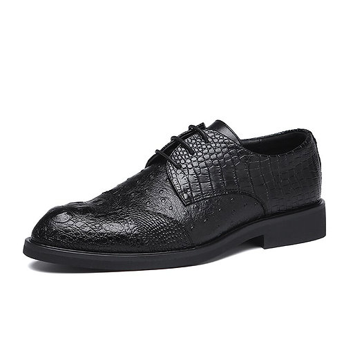 Men Dress Shoes Formal Wedding Leather  Business Office Men's Flats Oxfords