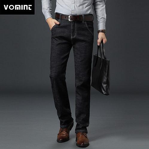 Men Basic Style Casual Jeans Summer Thin Elastic /Original Straight
