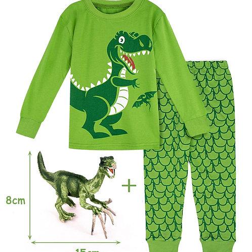 Kids Boy Winter Pyjamas Children Dinosaur Pijamas Cartoon Robot Digger Airplane