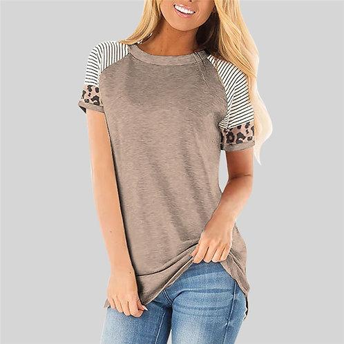 Women T-Shirt Summer Raglan Sleeve Top Slim Short Sleeve T Shirt