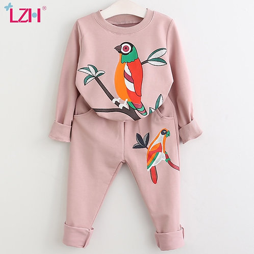 LZH Girls Clothing Sets Autumn Winter Toddler Girls Clothes Outfit Kids