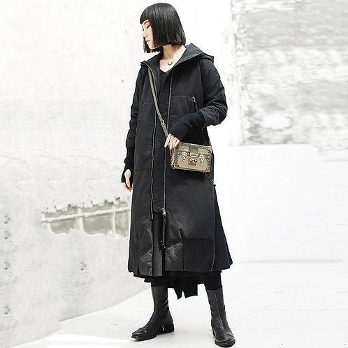 Chiaki Hooded Long Hem Pocket Parka