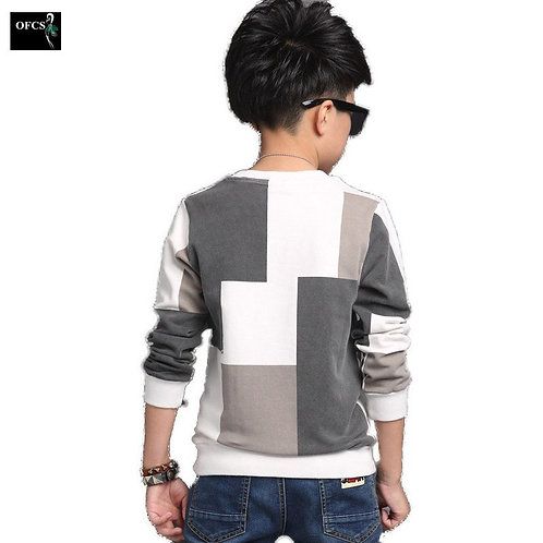 2019 New Leisure Children's Clothes, Kids Boy Spring Check Long-Sleeved Jacket