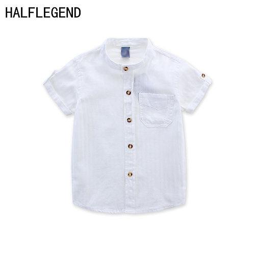 New 2018 Shirt for Boys Summer Children's Clothing White Blouse for Boys