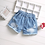 Thumbnail: Girls Denim Shorts Teenage Girl Summer Lace Pants Kids Bow Clothes