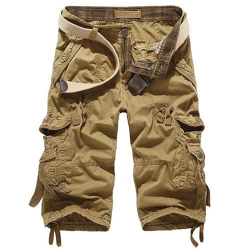 Summer Cargo Shorts Men Cotton Casual Outdoor Military Men's Shorts\
