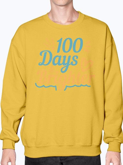 100 Days Brighter -  School - Sweatshirt - Crew