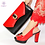 Thumbnail: New Arrival Italian Shoes With Matching Bags Set Decorated Women Shoes