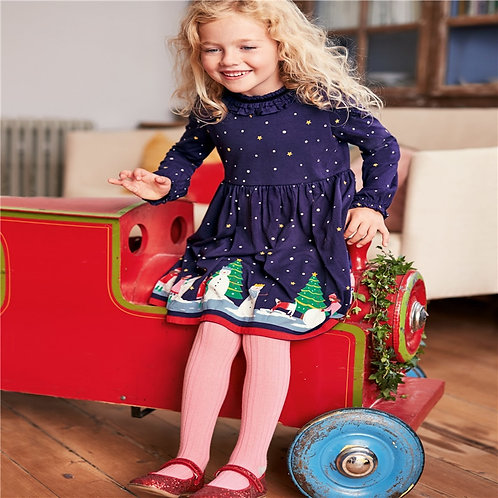 Princess Christmas Girls Dresses Cotton Snowman Party Wedding Children Clothing