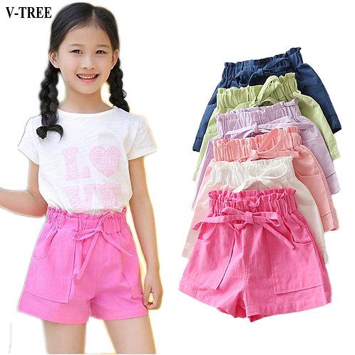 Summer Girls Shorts Candy Color Boardshorts Kids Cotton Children