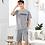 Thumbnail: Newest Men's Pajamas Set Summer Men Pajamas Sets Simple Sleepwear Men's Short