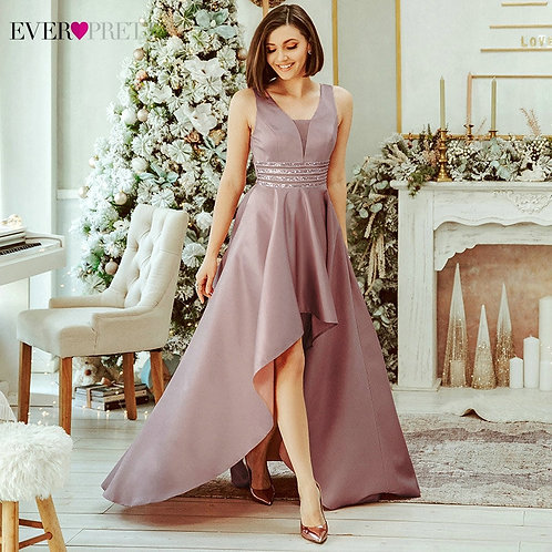 Sparkle Satin Evening Dresses Ever Pretty Sequined Double V-Neck Sleeveless