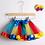 Thumbnail: Tutu Skirt Baby Girl Skirts 1 to 8 Years Princess Pettiskirt Party Dance Rainbow