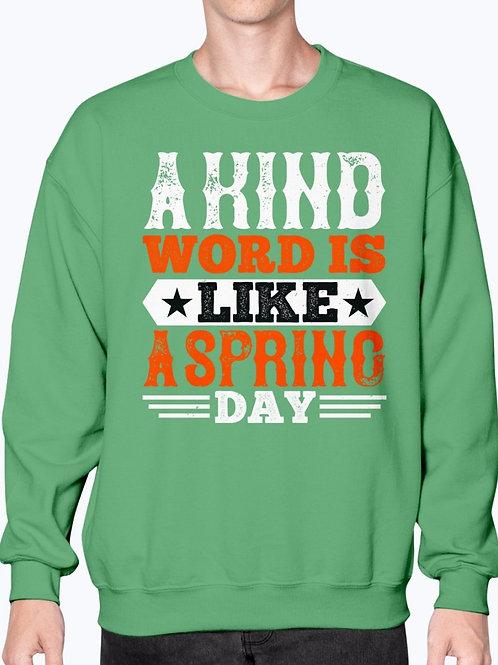A Kind Word Is Like a Spring Day -  Basketball  - Sweatshirt - Crew