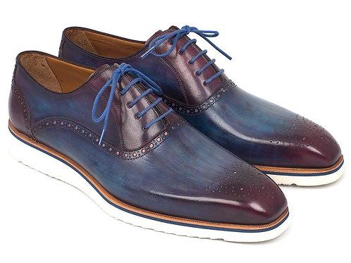 Paul Parkman Smart Casual Oxford Shoes for Men Blue & Purple