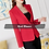 Thumbnail: High-Quality Blazer Straight and Smooth Jacket Office Lady Style Coat Business