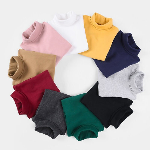 2018 Girls Sweaters Solid Candy Color Boys Sweaters Autumn Wool Baby