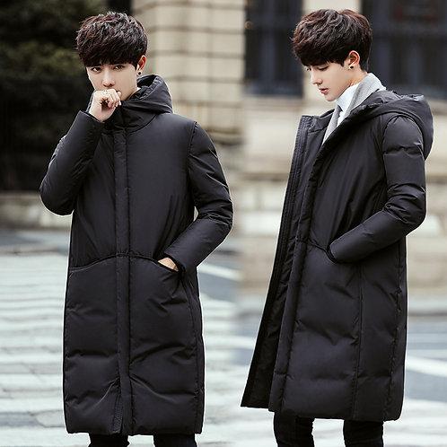 New Long Down Coat Men Coat Winter Down Jacket Warm Thicken Hooded Overcoat