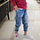 Thumbnail: New Teenagers Boys Jeans Casual Straight Kids Solid Cotton Jeans Autumn Winter