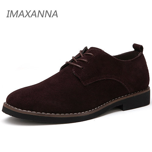 Men Casual Shoes Men Genuine Leather Spring Men Flats Lace Up  Oxfords Shoes