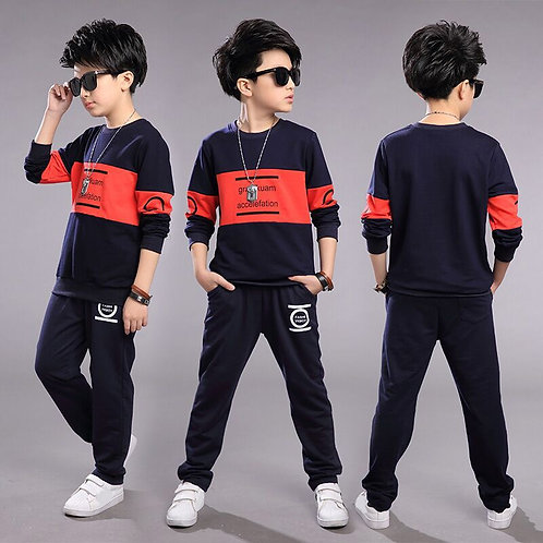 Teen Children Clothes 3-11year Boys Costume Tracksuit Camouflage Tops