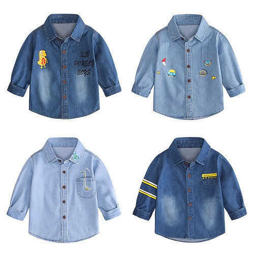 2020 Autumn New Children's Clothing Handsome Baby Boys Long Sleeve Casual Shirts