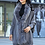Thumbnail: Women Faux Fur Collar Shawl Cardigan Gray Women Tassel Knit Cardigan Sweater