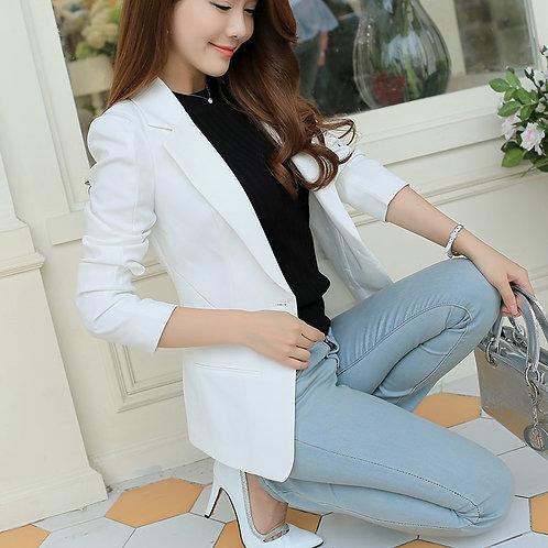 Ladies Blazer Long Sleeve Blaser Women Suit Jacket Female