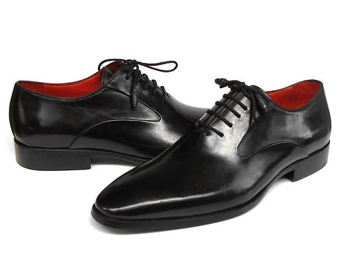 Paul Parkman Men's Black Oxfords Leather Upper and Leather Sole