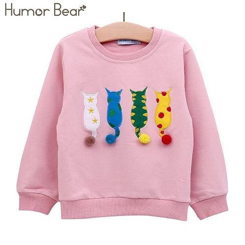 Humor Bear Kids Sweater Autumn Long-Sleeve T-Shirt  Boy Girl Children Clothes