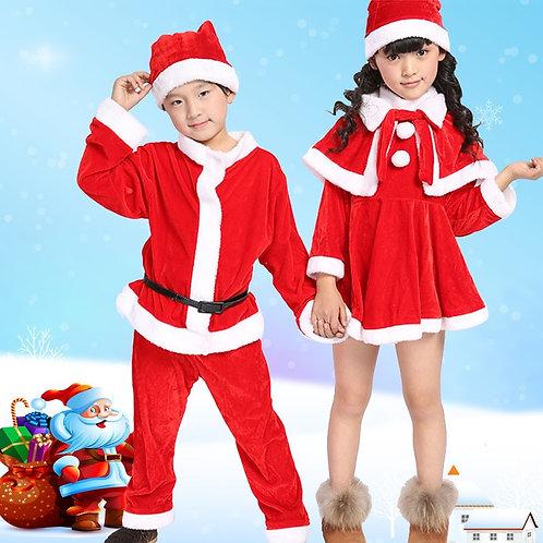 Christmas Santa Claus Suit Top Quality Christmas Costume Suit Baby Boy/Girl 3PCS