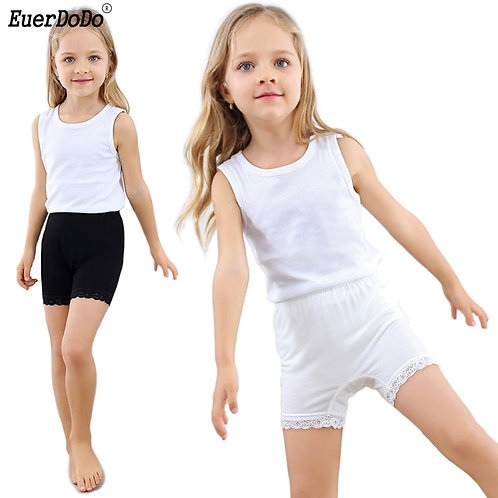 Breathable Modal Lace Tight Shorts for Girls Anti Emptied Safety Short Pants