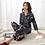 Thumbnail: FZSLCYIYI Luxury Pajama Suit Satin Pajamas Sets Couple Sleepwear Family Pijama
