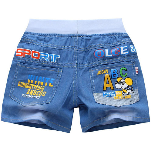 New Summer Kids Short Denim Shorts for Boys Fashion Boy Short Jeans Children