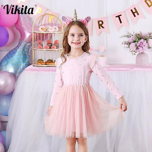 VIKITA Brand New Children Princess Dress Girls Star Tutu Dresses Baby Girl