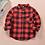 Thumbnail: New 2020 Autumn Children Boys Shirts Fashion Plaid Mandarin Collar Long Sleeves
