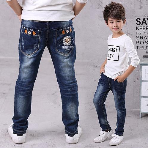 IENENS Kids Boys Jeans Baby Clothes Classic Pants Children Denim Clothing Boy