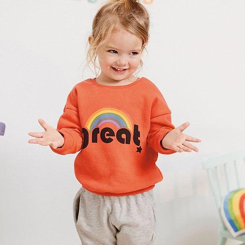Little Maven 2019 Autumn New Baby Girls Brand Clothes Letter Print Rainbow
