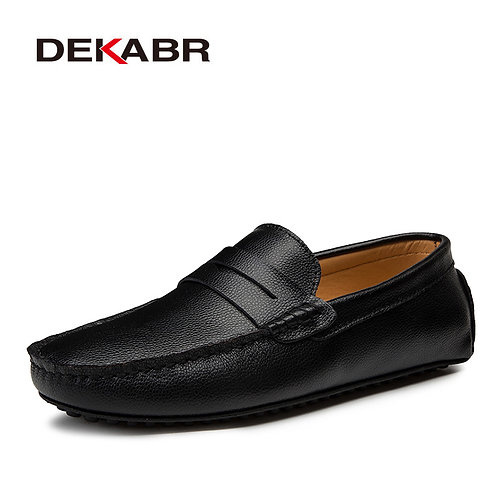 Fashion Men Boat Shoes Brand Men Casual Leather Shoes Male Flat Shoes